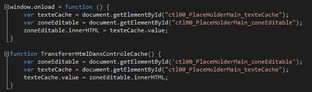 Code js pour conserver le contenu du div au reload